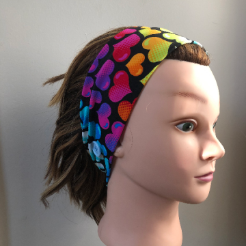 Rainbow Hearts Headband