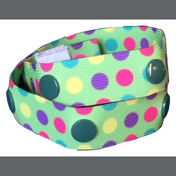 Green Candy Dots Elu Clip