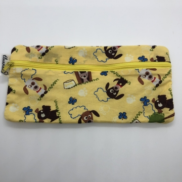 Dogs on Yellow Pencil Pouch