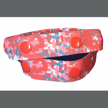 Digital Red Camouflage Elu Clip
